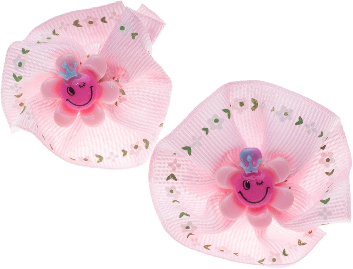 Резинка для волос Мастерская Крутовых, цвет: розовый, 2 шт. 14-32614-326Резинка выполнена из текстиля и украшена декоративными элементами. В комплекте 2 резинки.