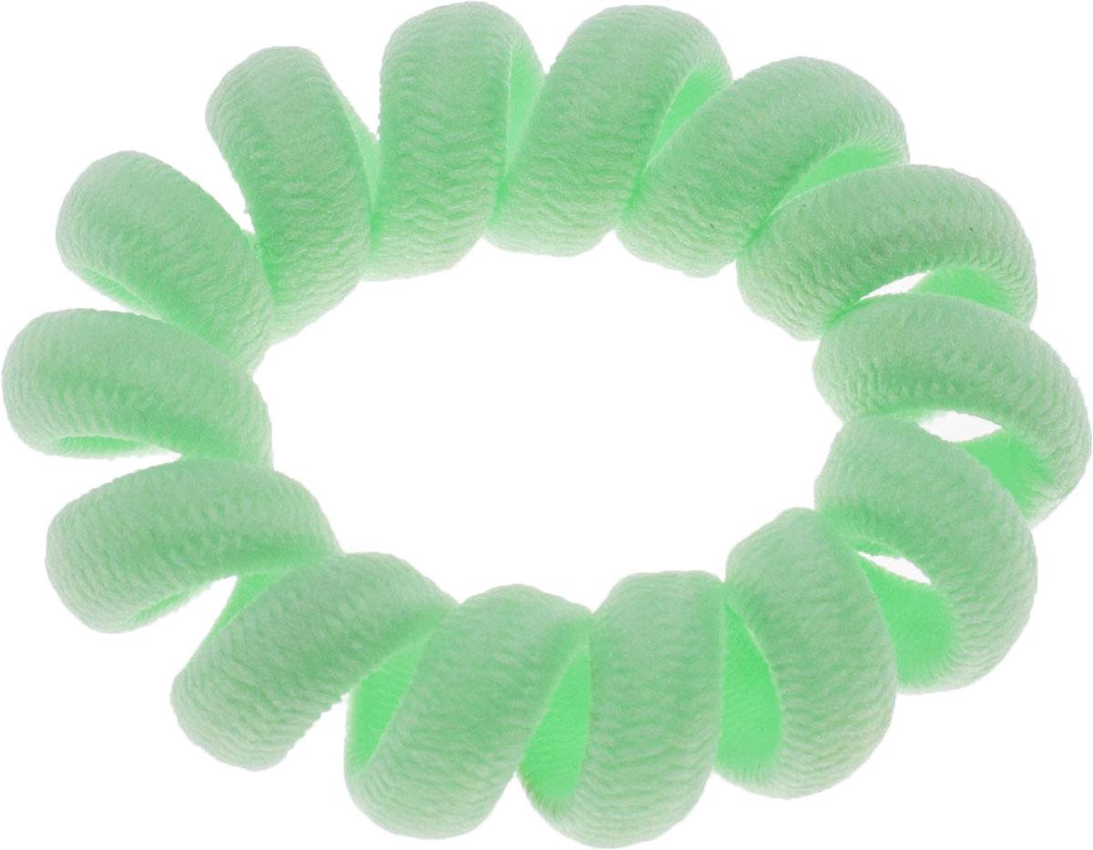 Резинка для волос Мастерская Крутовых, цвет: зеленый. РПВ-082РПВ-082Резинки-пружинки для волос — это модная тенденция в сфере ухода за собой. Благодаря этой резинки вы сможете сделать любую прическу и она будет держаться на ура. Пользуетесь маской или бальзамом для волос? И тут вам резинка-пружинка придется кстати, она не намокает, быстро моется и не заламывает волосы! Так же эту резиночку можно носить как браслет!