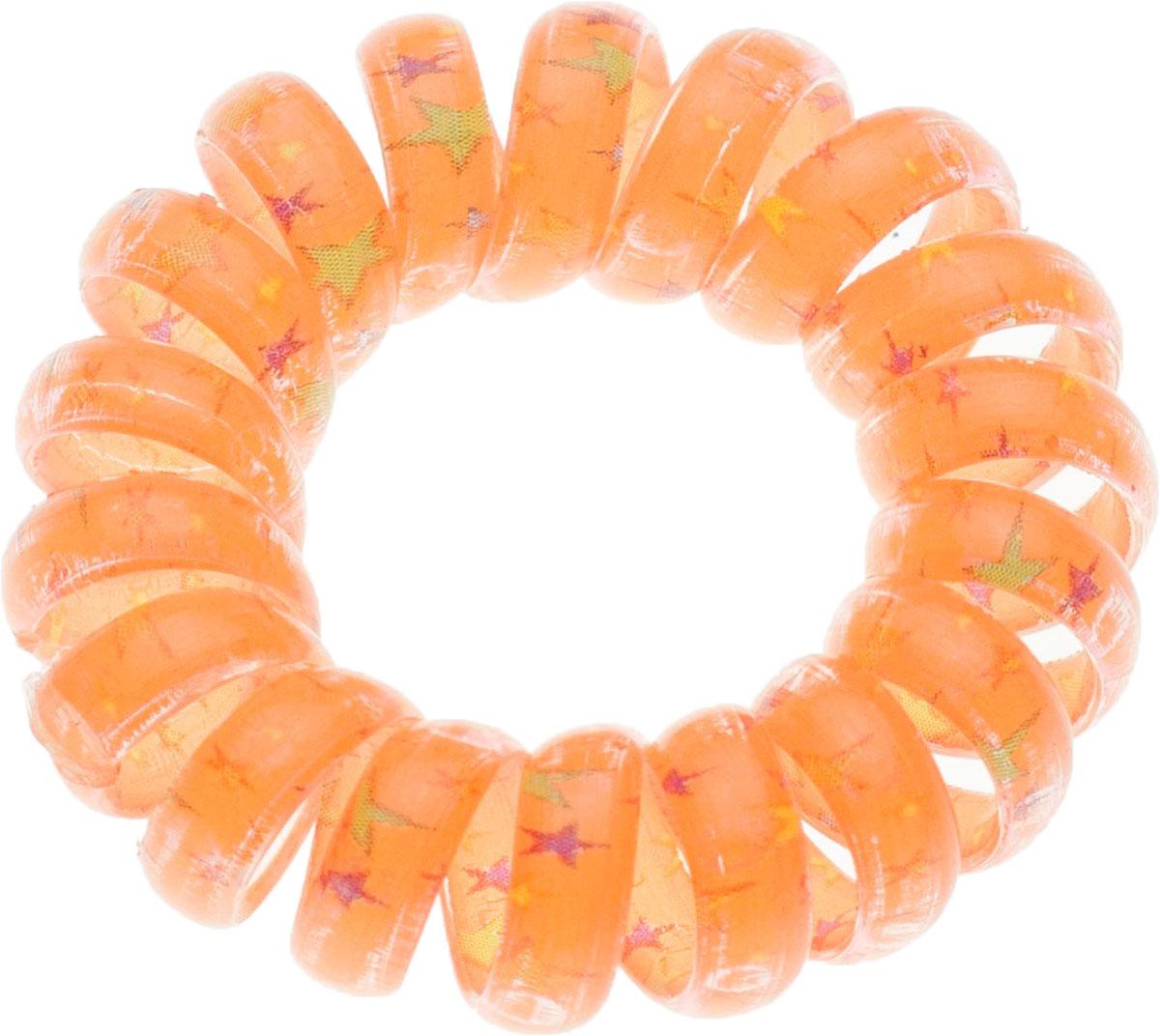 Резинка для волос Мастерская Крутовых, цвет: оранжевый. РПВ-099РПВ-099Резинки-пружинки для волос — это модная тенденция в сфере ухода за собой. Благодаря этой резинки вы сможете сделать любую прическу и она будет держаться на ура. Пользуетесь маской или бальзамом для волос? И тут вам резинка-пружинка придется кстати, она не намокает, быстро моется и не заламывает волосы! Так же эту резиночку можно носить как браслет!