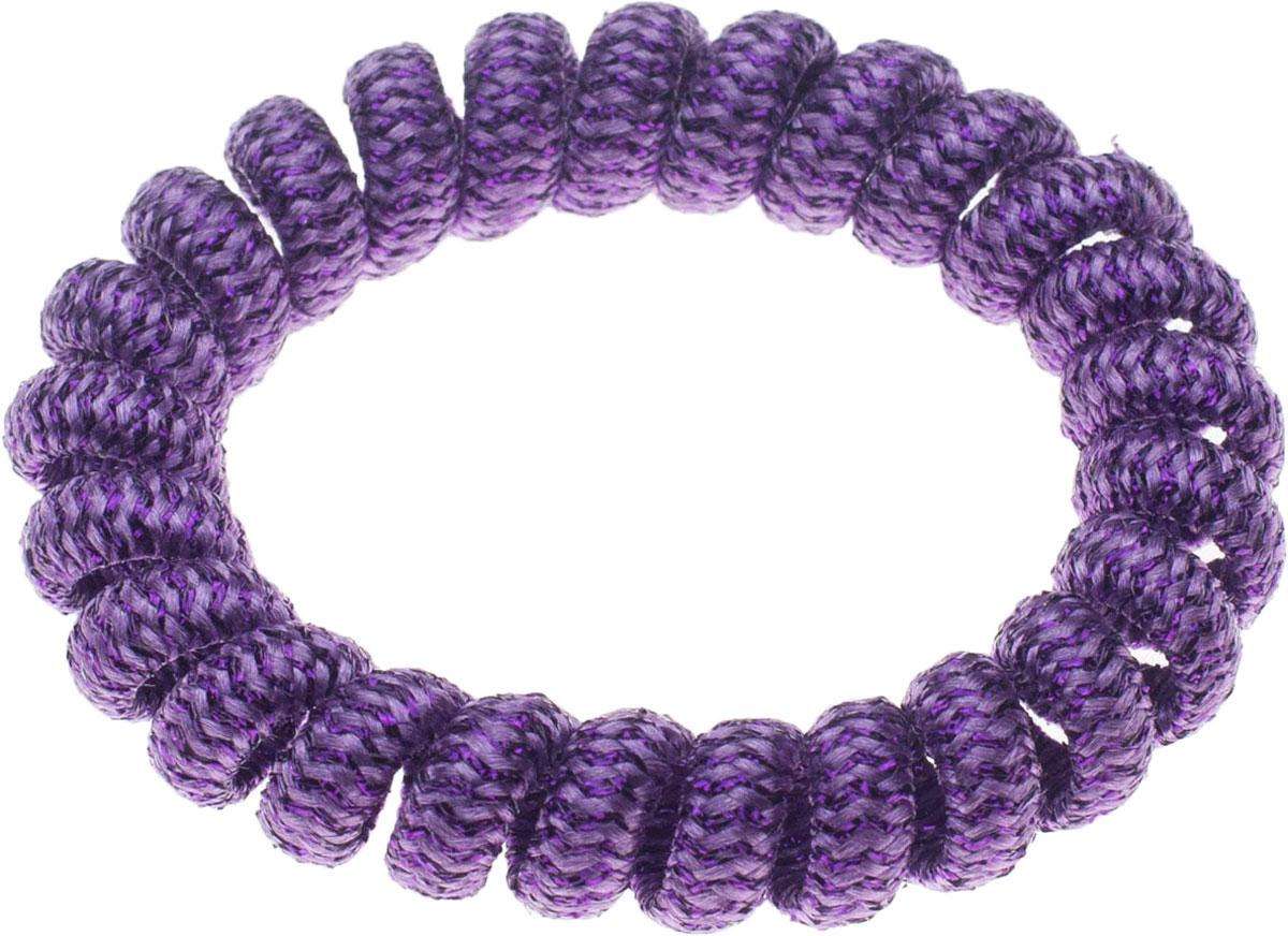 Резинка для волос Мастерская Крутовых, цвет: фиолетовый. РПВ-227РПВ-227Резинки-пружинки для волос — это модная тенденция в сфере ухода за собой. Благодаря этой резинки вы сможете сделать любую прическу и она будет держаться на ура. Так же эту резиночку можно носить как браслет!