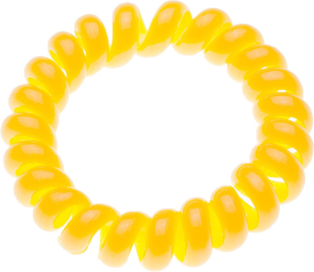 Резинка для волос Мастерская Крутовых, цвет: желтый. РПВ-262РПВ-262Резинки-пружинки для волос — это модная тенденция в сфере ухода за собой. Благодаря этой резинки вы сможете сделать любую прическу и она будет держаться на ура. Пользуетесь маской или бальзамом для волос? И тут вам резинка-пружинка придется кстати, она не намокает, быстро моется и не заламывает волосы! Так же эту резиночку можно носить как браслет!