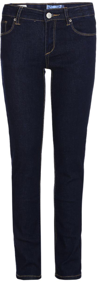 Брюки для девочки Sela, цвет: темно-синий. PJ-635/042-8122. Размер 140PJ-635/042-8122