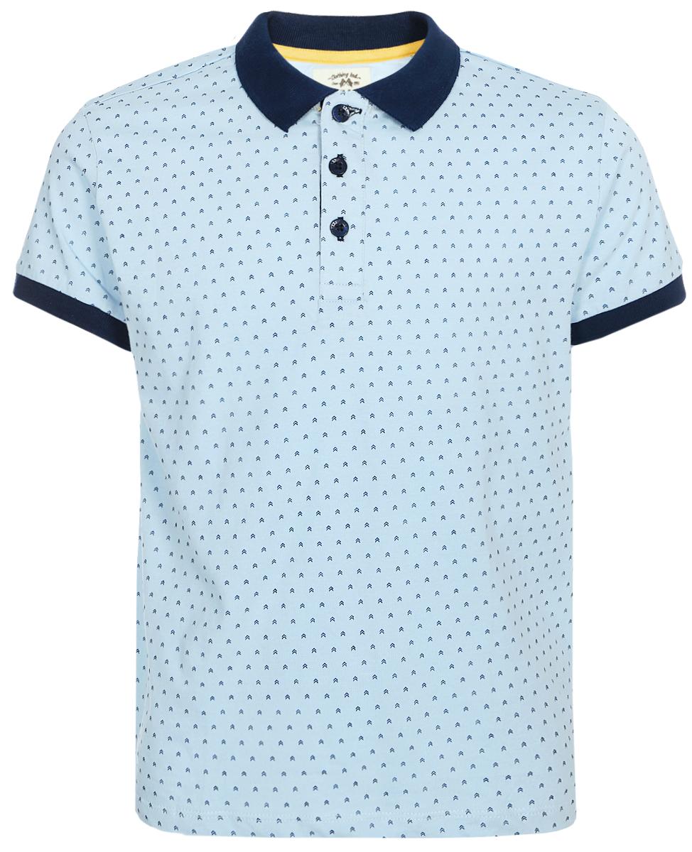 Поло для мальчика Sela, цвет: голубой. Tsp-811/290-8214. Размер 134 sela рубашка поло для мальчика sela
