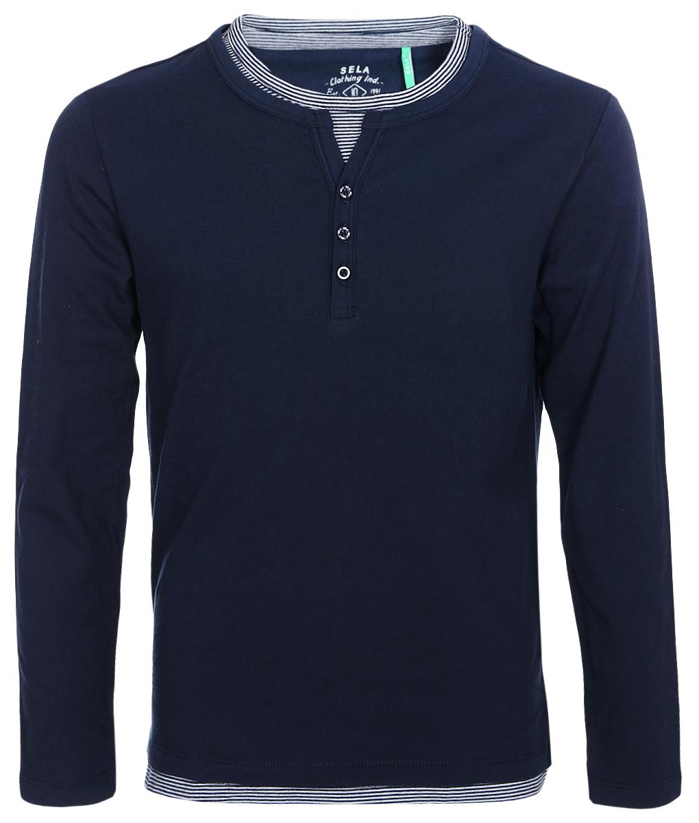 Джемпер для мальчика Sela, цвет: темно-синий. T-811/1095-8213. Размер 152 цена