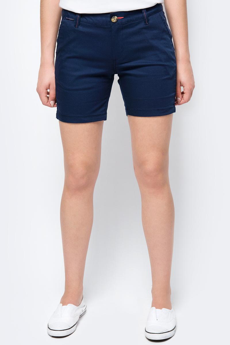 Шорты женские Columbia Harborside Short, цвет: синий. 1709531-465. Размер 8 (48) платье columbia harborside woven sleeveless dress цвет синий розовый 1709571 485 размер m 46