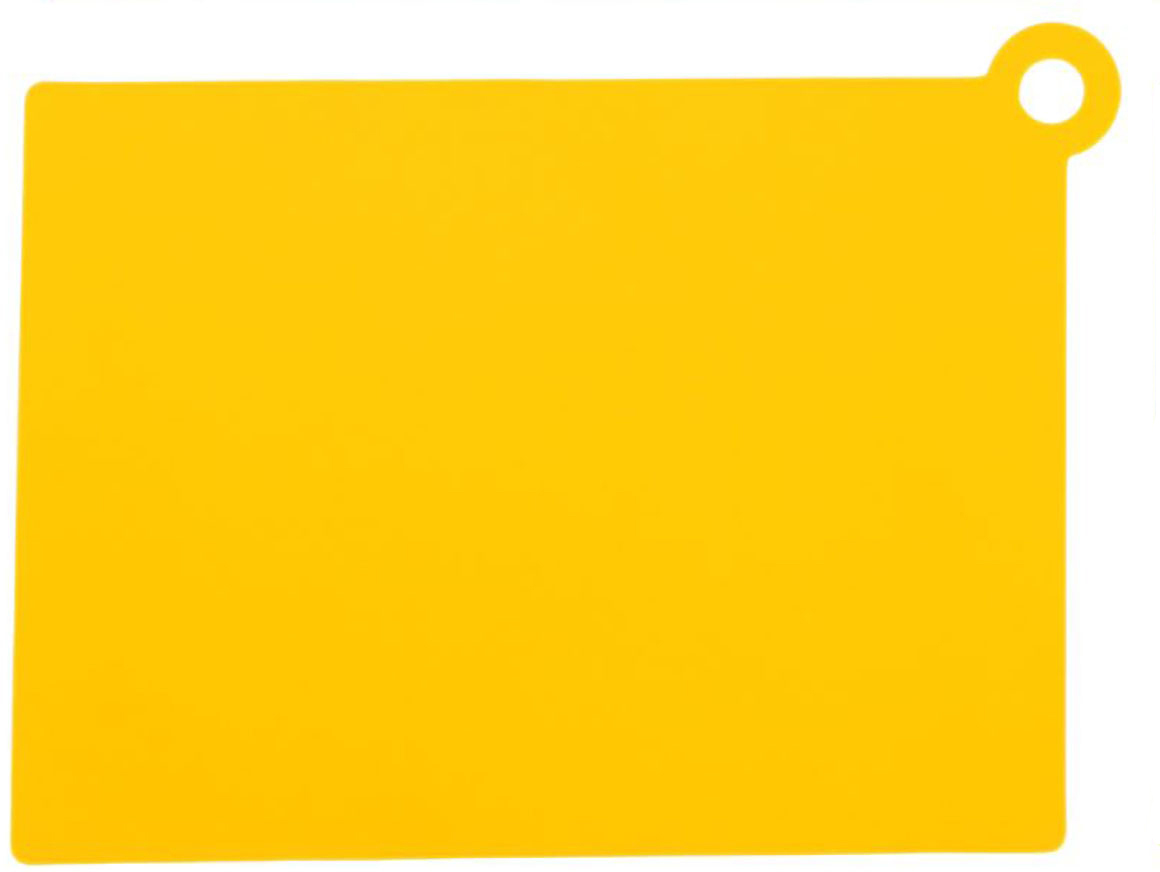Доска разделочная Доляна, противоскользящая, гибкая, цвет: желтый, 26 х 19 х 0,2 см