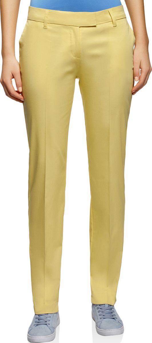 Брюки женские oodji Collection, цвет: желтый. 21704159-1B/14522/5200N. Размер 46 (52-170) наглядно дидактические пособия эксмо 978 5 699 71548 0