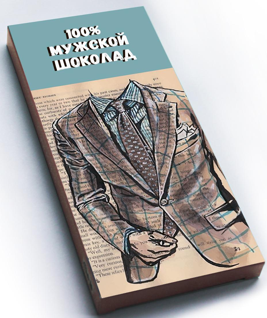 Choko life 100% Мужской шоколад шоколадная плитка, 100 г shokobox новый год 2018 письмо шоколадная плитка 100 г