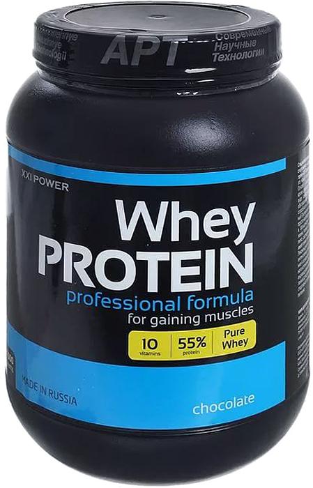 Протеин сывороточный Россия XXI POWER, шоколад, 1,6 кг сывороточный протеин bbb whey classic шоколад 70% белка и bcaa 1 кг