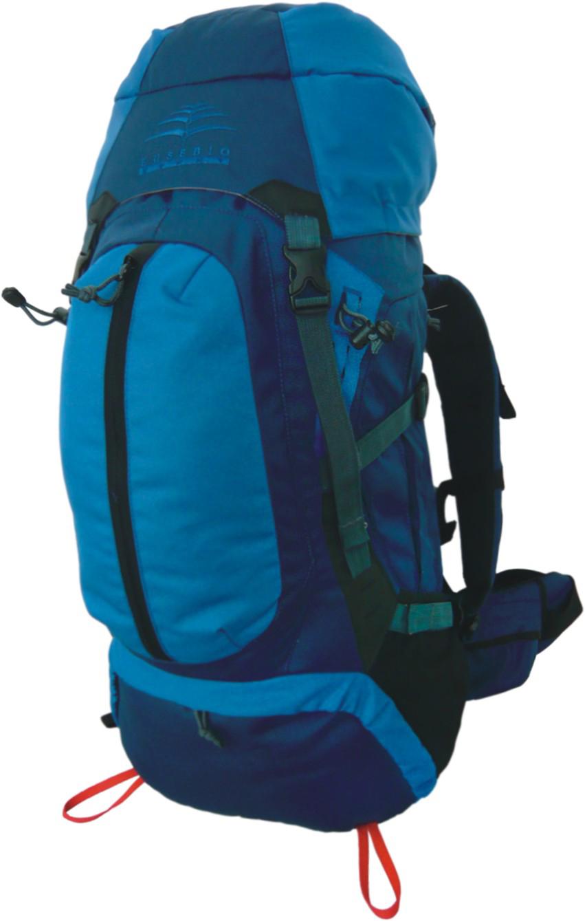 Рюкзак туристический Indigo Monte, цвет: голубой, 60 л17483Рюкзак Indigo Monte - прочный, удобный, вместительный. Обладает изогнутой формой лямок для комфортного прилегания к спине. Лямки регулируются по длине и покрыты сетчатой тканью для оптимального комфорта. Материал: полиэстер 600D.