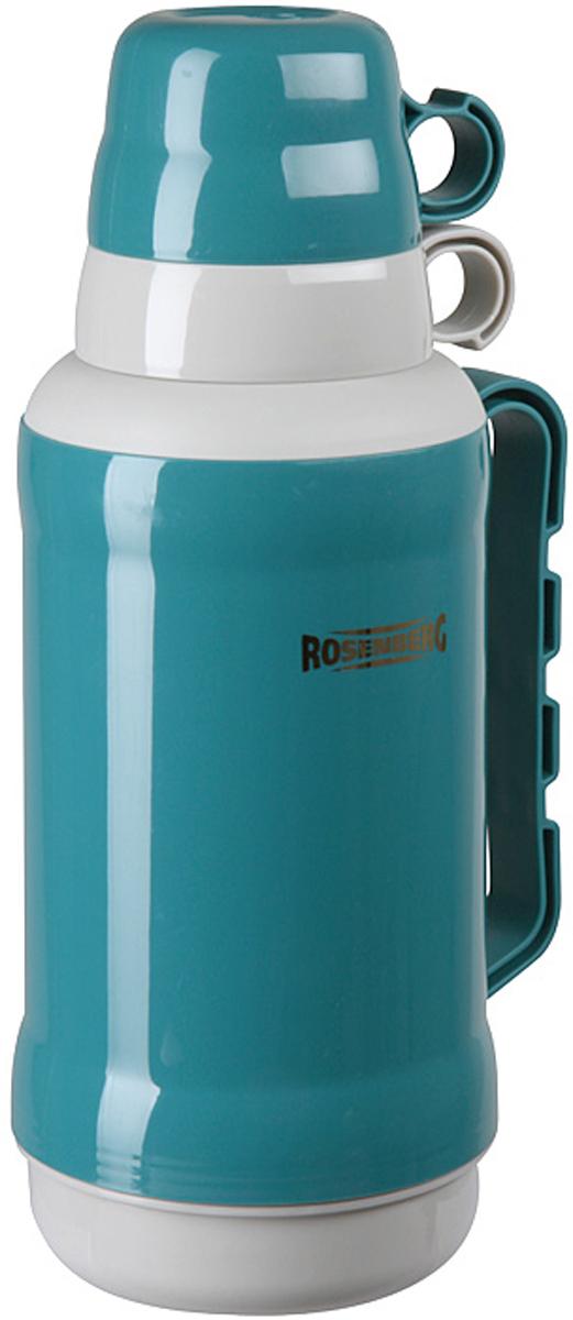 Термос Rosenberg RPL-420002 для хранения и распития любимых напитков, куда бы вы не отправились: на работу в офис, за город на пикник, в длительное путешествие на автомобиле или просто на рыбалку, или охоту.  С ним вы точно не замерзнете пока будете гулять! Термос сохраняет напиток теплыми и холодными долгое время, поэтому вы сможете побаловать себя горячим чаем или кофе, даже если находитесь далеко от дома.  Термос обладает рядом особенностей, которые вы сможете оценить по достоинству.  Корпус выполнен из качественного пластика.  Выглядит очень стильно и современно.  Продуманная конструкция позволяет сохранять температуру напитка в течение нескольких часов.  Держать очень комфортно, даже если внутрь вы налили кипяток.  Подходит для горячих и холодных напитков.  Оснащен крышкой-чашкой.