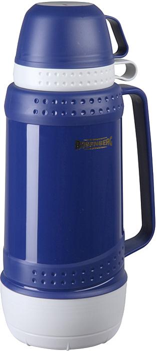 Термос Rosenberg RPL-420004 для хранения и распития любимых напитков, куда бы вы не отправились: на работу в офис, за город на пикник, в длительное путешествие на автомобиле или просто на рыбалку, или охоту.  С ним вы точно не замерзнете пока будете гулять! Термос сохраняет напиток теплыми и холодными долгое время, поэтому вы сможете побаловать себя горячим чаем или кофе, даже если находитесь далеко от дома.  Термос обладает рядом особенностей, которые вы сможете оценить по достоинству.  Корпус выполнен из качественного пластика.  Выглядит очень стильно и современно.  Продуманная конструкция позволяет сохранять температуру напитка в течение нескольких часов.  Держать очень комфортно, даже если внутрь вы налили кипяток.  Подходит для горячих и холодных напитков.  Оснащен крышкой-чашкой.