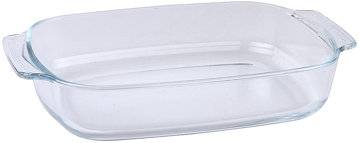 """Форма для запекания Pomi d'Oro """"PGL-580021"""", прямоугольная, станет отличным дополнением к набору кухонной утвари.  Сегодня такие формы приобретают все большую популярность как у простых домохозяек, так и у профессиональных кулинаров.  Они достаточно функциональны и удобны в использовании, подходят как для выпекания, так и для запекания различных блюд.  Размер 30,3 x 19,8 x 6,2см.  Материал жаропрочное стекло.  Объем 2 л."""