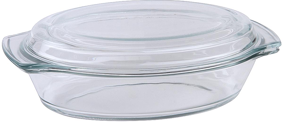 """Форма для запекания Pomi d'Oro """"PGL-580035"""" станет отличным дополнением к набору кухонной утвари.  Сегодня такие формы приобретают все большую популярность как у простых домохозяек, так и у профессиональных кулинаров.  Они достаточно функциональны и удобны в использовании, подходят как для выпекания, так и для запекания различных блюд.  Размер 29 x 17,5 x 7,8 см.  Материал жаропрочное стекло.  Объем 1,5 л."""