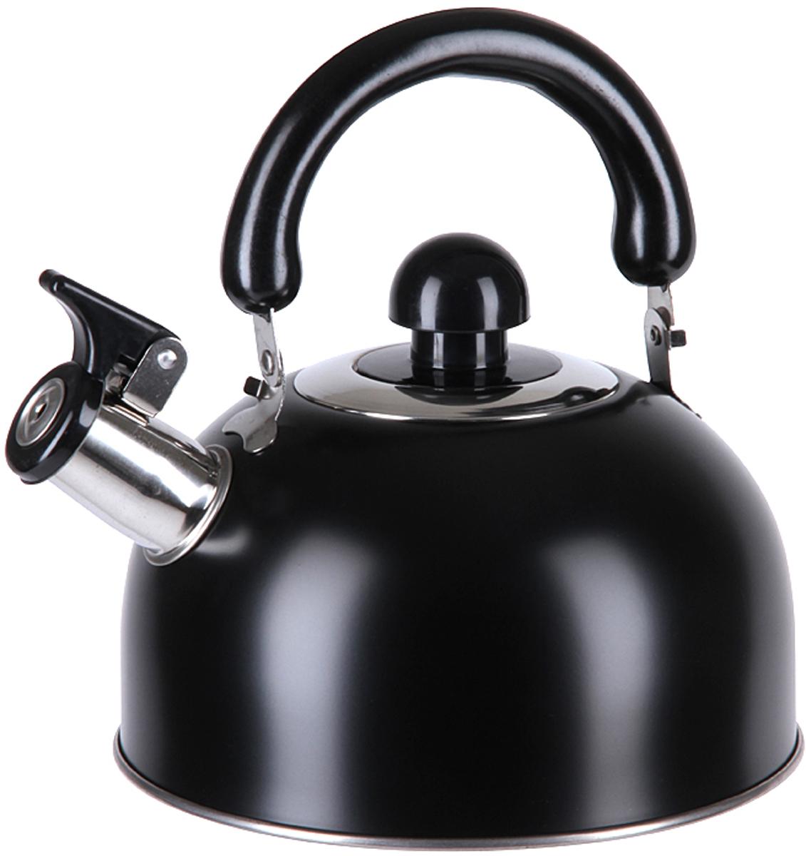 Чайник Pomi d'Oro со свистком  Объем: 3,0 л, полезный объем 2,5 л.  Особенности:    Удобная не нагревающаяся бакелитовая ручка  Матовая полировка  Высококачественная нержавеющая сталь  Удобное открытие крышки носика  Свистит при закипании воды  Пригоден для мытья в посудомоечной машине