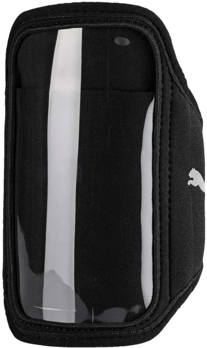 Чехол для телефона мужской Puma PR Sport Phone Armband. 05335201. Размер S/M05335201Часть экипировки бегуна - сумочка, фиксирующаяся на руке, с внешним отделением для смартфона, выполнена из эргономичного эластичного материала. Теперь легко и просто отслеживать маршрут пробежки на экране или слушать любимую музыку, так как сумочка имеет спереди карман с прозрачным экраном для сенсорного управления мобильным телефоном. Размеры кармана идеально соответствуют размерам айфона 6/7 и Galaxy S5/6/7. Имеется дополнительный накладной карман, петлица для шнура наушника или гарнитуры айфона и дополнительный кармашек для ключа или мелочи. Сумочка удобно и надежно крепится к руке при помощи застежки на липучке, продеваемой через разрез с обработанными лазером краями. Сумочка украшена сбоку логотипом Puma из светоотражающего материала для повышения вашей безопасности в темное время суток. Сумочка выпускается двух размеров S/M (для окружности бицепса 24-29 см) и L/XL (для окружности бицепса 30-38 см).
