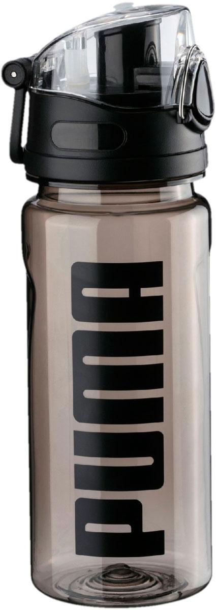 Бутылка для воды мужская Puma Bottle Sportstyle, 0,6 л05337001Спортивная бутылка от Puma – ваш надежный и незаменимый компаньон на пробежке, на прогулке и в спортивном зале! Она снабжена кнопкой для открывания одной рукой, которая может блокироваться для предотвращения случайного открывания, имеет крышку с удобным носиком, облегчающим процесс питья, и украшена печатной надписью Puma спереди. Также имеется пластиковый крюк, с помощью которого фляга может крепиться к поясу, либо этот крюк используется в качестве ручки для переноски. Прозрачный материал, из которого фляга изготовлена, позволяет видеть, насколько она заполнена.Емкость бутылки: 600 мл.