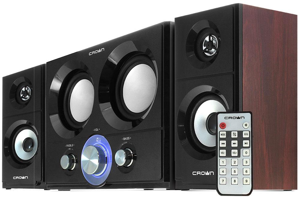 Crown Micro CMBS-361, Black Brown акустическая системаCM000001809Акустическая система предназначена для качественного воспроизведения аудио с компьютера, ноутбука или мобильного устройства. Мощности с лихвой хватит для полного акустического охвата помещения площадью до 120кв.м. Беспроводное подключение по Bluetooth позволит легко и просто запустить Вашу любимую композицию со смартфона или планшета. Корпус из МДФ сделает звук более приятным, так как обладает лучшим акустическим эффектом по сравнению с пластиком.