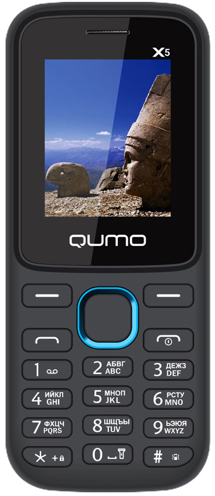 QUMO Push X5, Blue мобильный телефон qumo push mini white