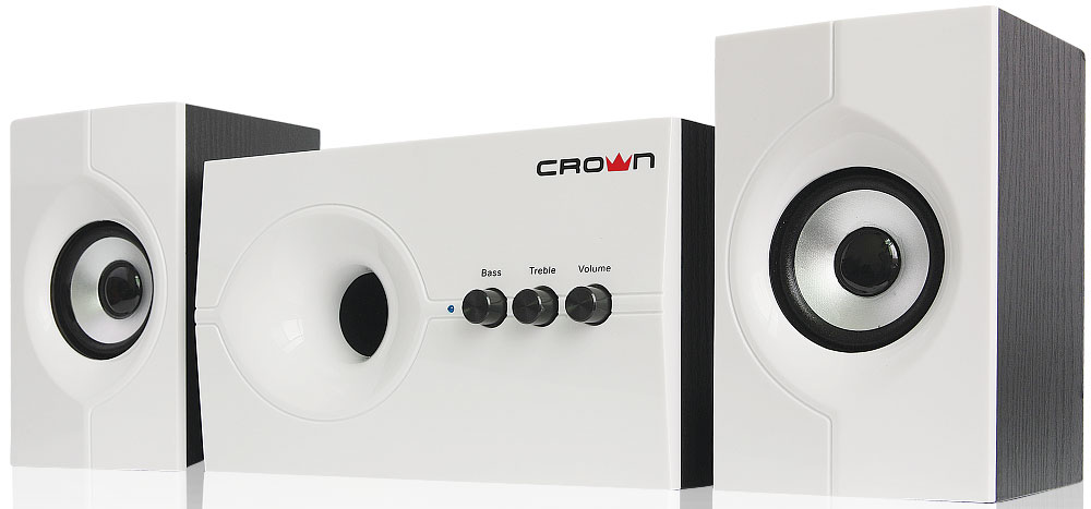 Crown Micro CMS-350, White Black акустическая система акустическая система crown cms 601