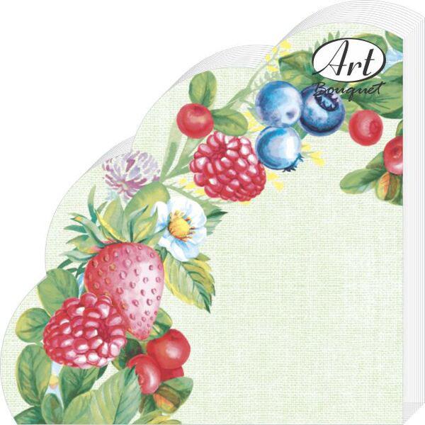 Салфетки бумажные Ягодное ассорти, 3-слойные, диаметр 32 см, 12 шт скатерти и салфетки tango салфетки esta 50х50 см