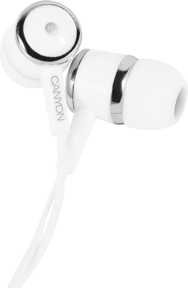 Canyon CNE-CEPM01W Stereo, White наушникиCNE-CEPM01WЭти наушники невероятно удобны в повседневной жизни. Мягкие чашечки-вкладыши отлично держатся и отсекают посторонний шум, а оптимально расположенный микрофон позволит вам свободно общаться на ходу, где бы вы ни находились. Добавьте к этому отличную передачу звука любимой музыки и прочность — эти качественные и практичные наушники вы ни на что не променяете!