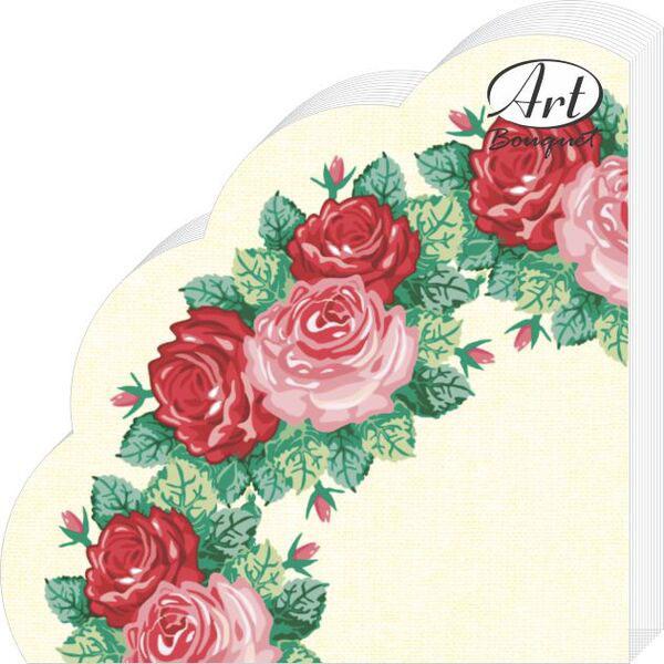 Салфетки бумажные Венок из роз, 3-слойные, диаметр 32 см, 12 шт андрей быстров серия фантастический боевик комплект из 7 книг