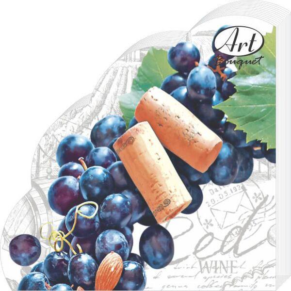 Салфетки бумажные Виноградный венок, 3-слойные, диаметр 32 см, 12 шт салфетки 3 х слойные katarina оптом саратов