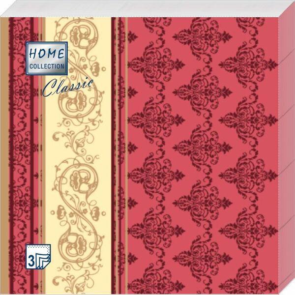 Салфетки бумажные Золотой узор, 3-слойные, 33 х 33 см, 20 шт балетки instreet балетки