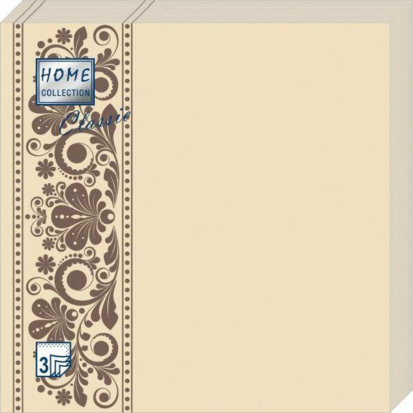 Салфетки бумажные Капучино, 3-слойные, 33 х 33 см, 20 шт скатерти и салфетки tango салфетки esta 50х50 см