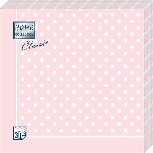 Салфетки бумажные Розовая скатерть в горошек, 3-слойные, 33 х 33 см, 20 шт салфетки 3 х слойные katarina оптом саратов