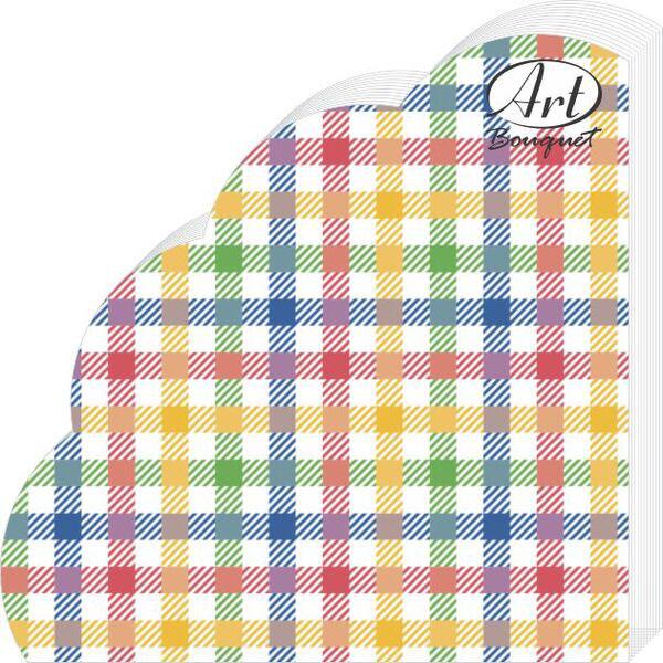 Салфетки бумажные Цветная скатерть, 3-слойные, диаметр 32 см, 12 шт салфетки 3 х слойные katarina оптом саратов