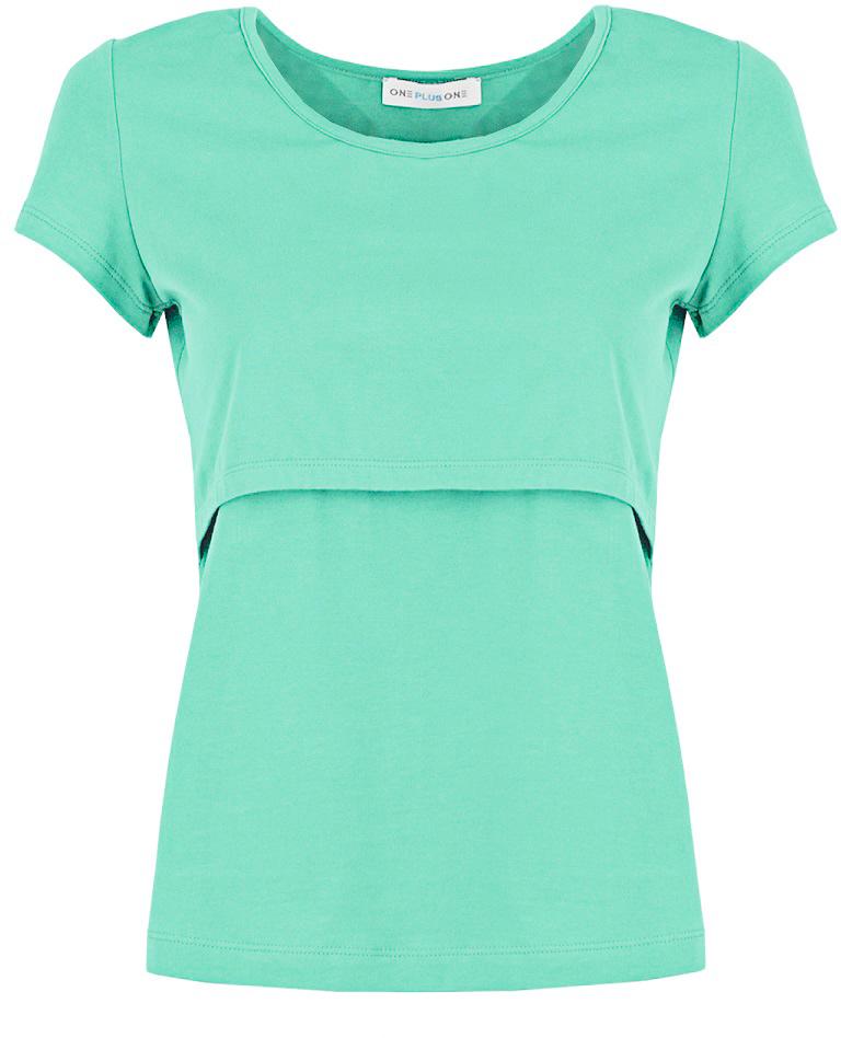 Футболка для беременных и кормящих One Plus One, цвет: зеленый. V149199. Размер 50 asymmetric one shoulder bodycon dress