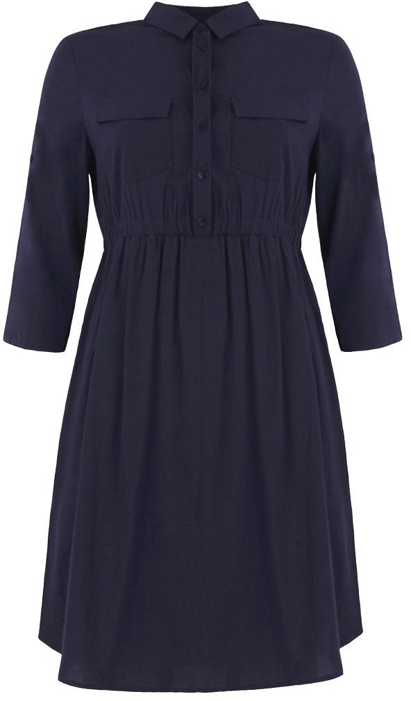Платье для беременных и кормящих One Plus One, цвет: темно-синий. V5022335. Размер 52 полочная акустика arslab classic 1 5 high gloss white