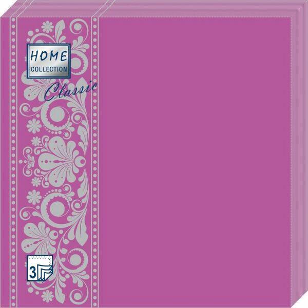 Салфетки бумажные Фламинго, 3-слойные, 33 х 33 см, 20 шт скатерти и салфетки tango салфетки esta 50х50 см