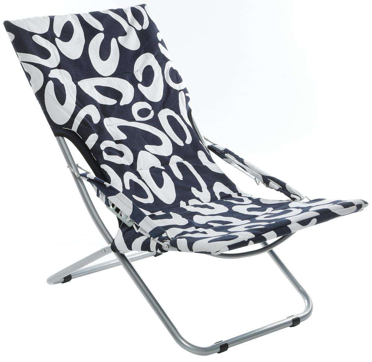 """Кресло складное """"Wildman"""", цвет: синий, белый, 73 х 60 х 100 см"""
