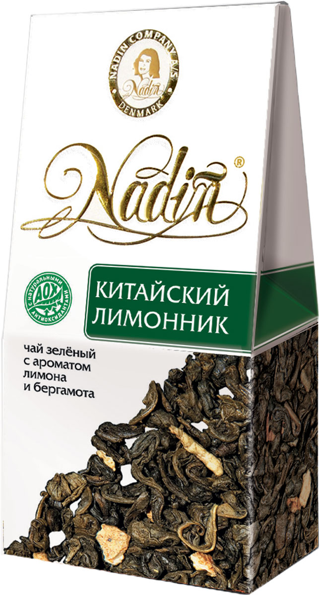 Nadin Китайский лимонник чай зеленый листовой, 50 г c pe153 yunnan run pin 7262 семь сыну пуэр спелый чай здравоохранение чай puerh китайский чай pu er 357g зеленая пища