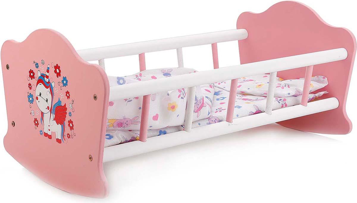 Карапуз Мебель для кукол Милый Пони Кроватка деревянная и постельные принадлежности 247991 карапуз любимый пони