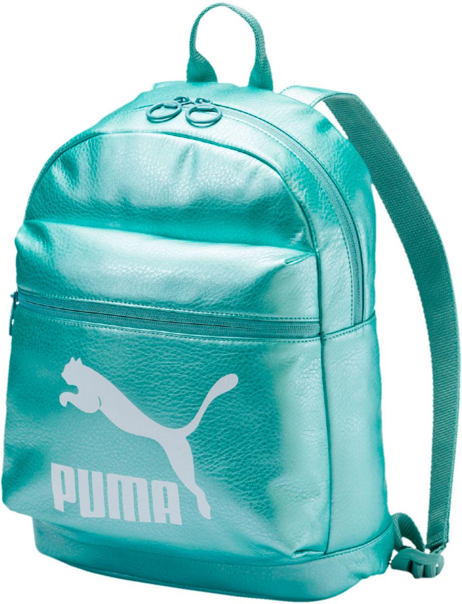 Рюкзак женский Puma Prime Backpack Metallic, цвет: голубой, 10 л. 07516402
