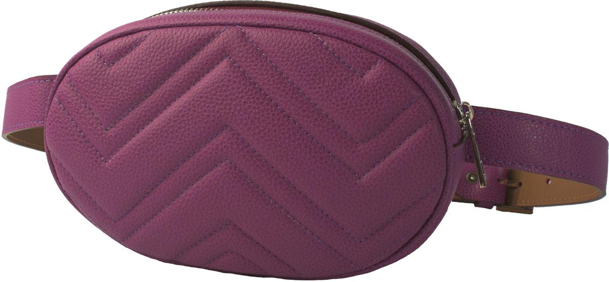 Сумка кросс-боди женская Dimanche Регби, цвет: пурпурный. 231/34231/34Модная сумочка на ремне, можно носить как на поясе, так и через плечо, крепится на ремень через шлевки, что позволяет использовать ремень как самостоятельный аксессуар. Состоит из одного отделения на молнии, внутри карман. Длина ремня до 95 см. Есть возможность регулировки по длине.