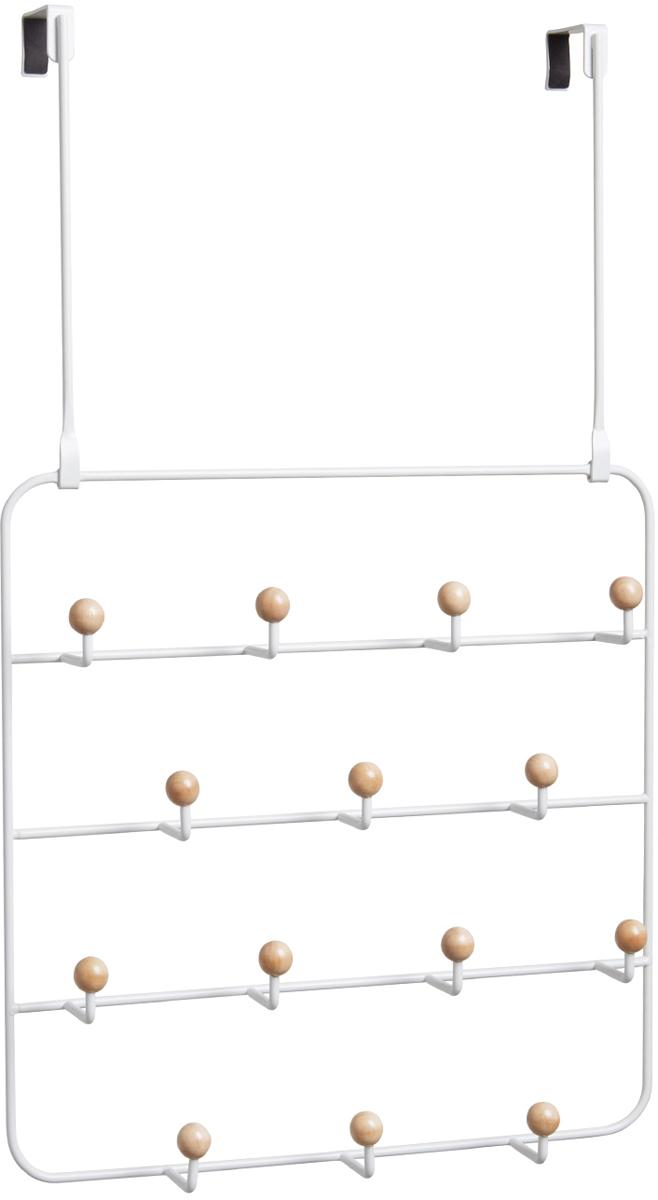 Органайзер для аксессуаров Umbra Estique,  надверными креплениями, цвет: белый