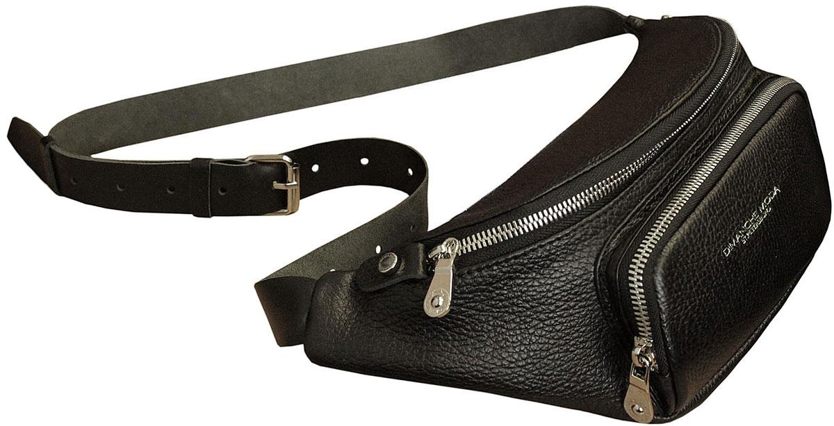 Удобная поясная сумочка с объемным наружным карманом. Закрывается на молнию, внутри карман на молнии. Ремень регулируется по длине на объем от 90 до 120 см. Удобно носить как на поясе, так и, как портупею, на груди. Подходит как для женщин, так и для мужчин.