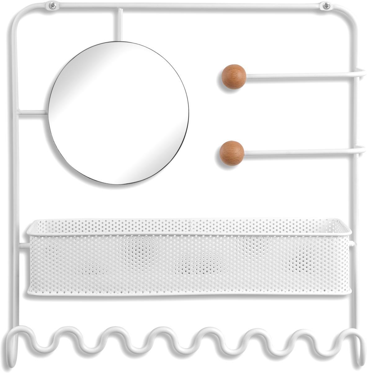 Органайзер для украшений Umbra Estique, надверный, цвет: белый