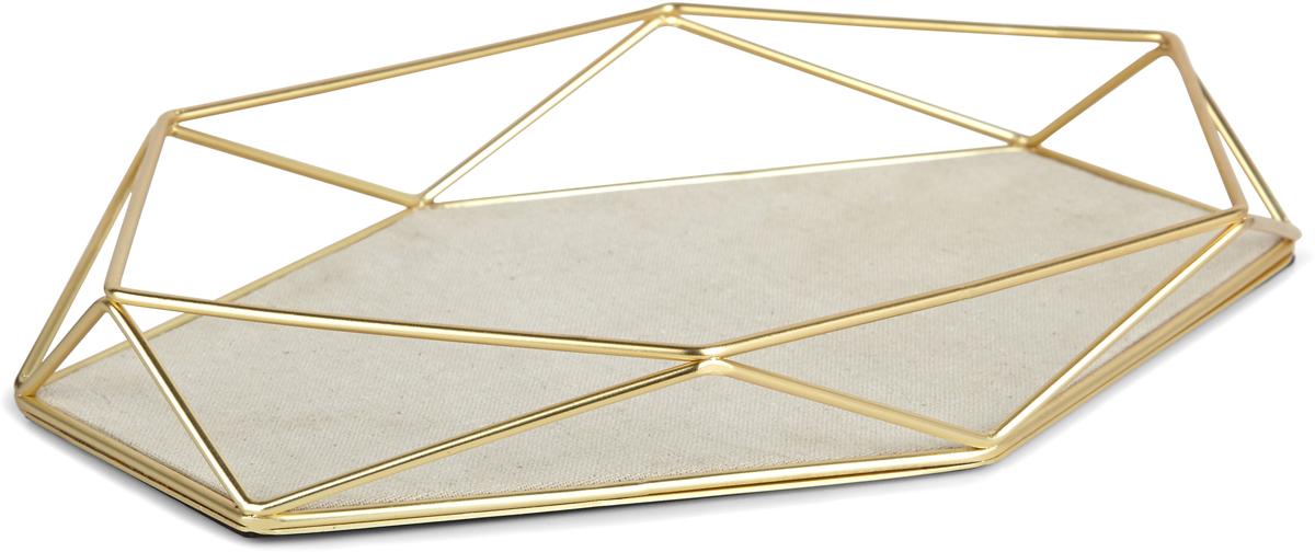 Органайзер-поднос для украшений Umbra Prisma, цвет: латунь material girl new beige black hieroglyphic printed dress msrp $44 dbfl