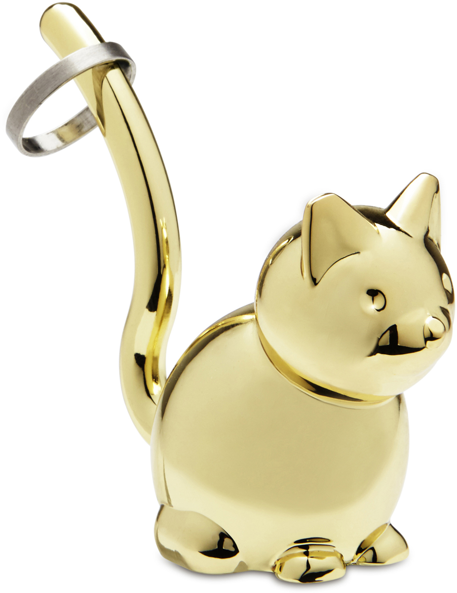 Подставка для колец Umbra Zoola. Кот, цвет: латунь сувенир подставка для колец кошка 12см