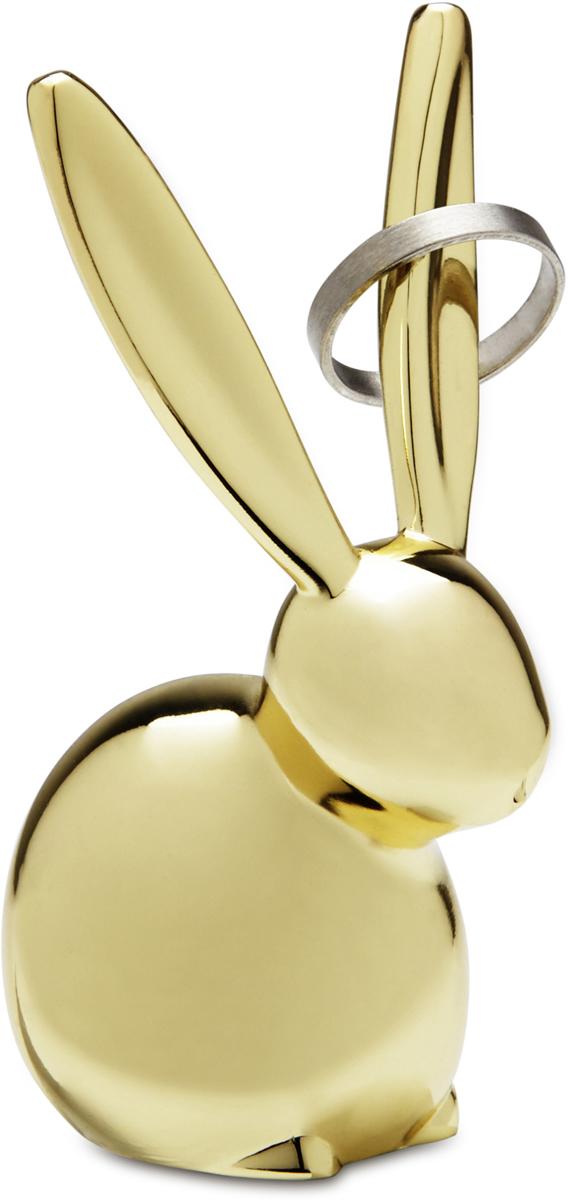 Подставка для колец Umbra Zoola. Кролик, цвет: латунь299213-104Пополнение в серии ZOOLA — коллекции небольших фигурных держателей для колец. Уши латунного кролика служат в качестве вешалок для колец и перстней. Красивый и функциональный сувенир!Дизайн: Umbra Studio