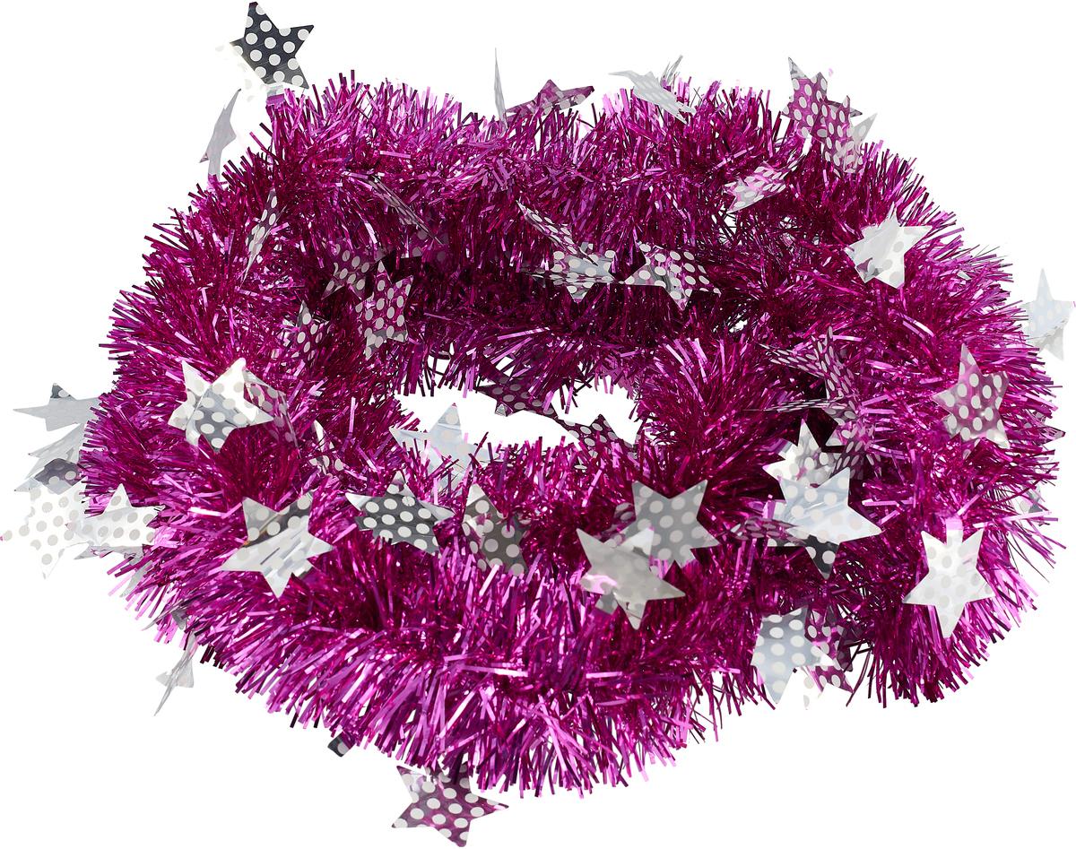 """Мишура новогодняя """"Sima-land"""", выполненная из двухцветной фольги, поможет вам украсить свой дом к предстоящим праздникам. Мишура армирована, то есть имеет проволоку внутри и способна сохранять приданную ей форму. Новогодняя елка с таким украшением станет еще наряднее.   Новогодней мишурой можно украсить все, что угодно - елку, квартиру, дачу, офис - как внутри, так и снаружи. Можно сложить новогодние поздравления, буквы и цифры, мишурой можно украсить и дополнить гирлянды, можно выделить дверные колонны, оплести дверные проемы.     Коллекция декоративных украшений из серии """"Зимнее волшебство"""" принесет в ваш дом ни с чем несравнимое ощущение праздника! Создайте в своем доме атмосферу тепла, веселья и радости, украшая его всей семьей."""