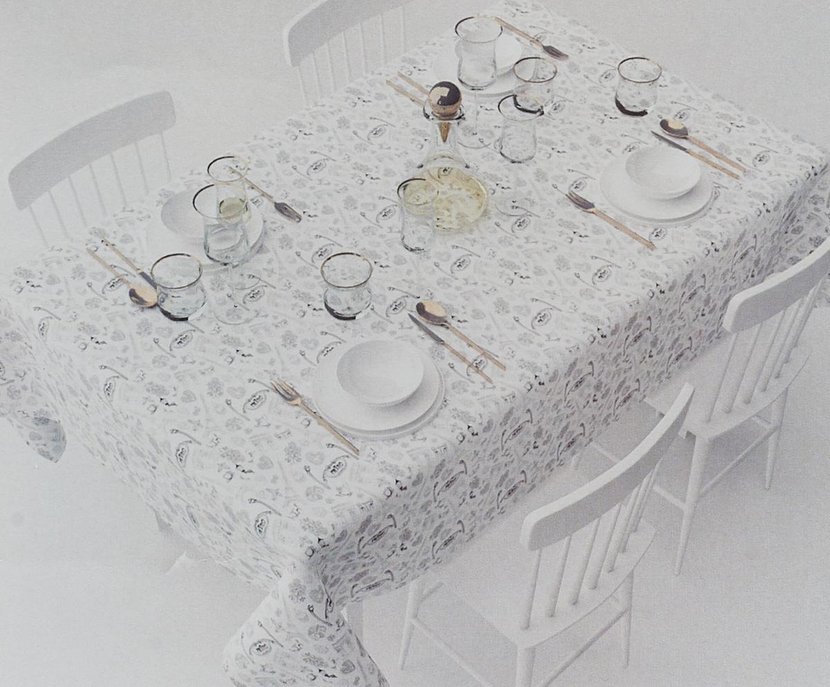 """Скатерть Сирень """"Завтрак в Париже"""", прямоугольная, 145 х 120 см"""