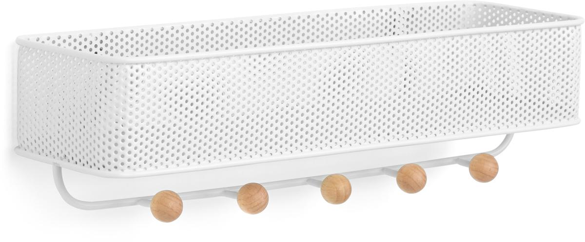 Полка-органайзер Umbra Estique, цвет: белый держатель для ключей и писем umbra держатель для ключей и писем