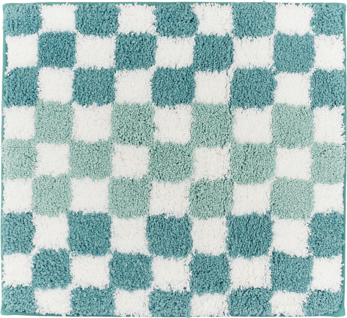 Коврик для ванной Ridder Grand Prix, цвет: синий, голубой, 55 х 50 см babyono коврик противоскользящий для ванной цвет голубой 70 х 35 см